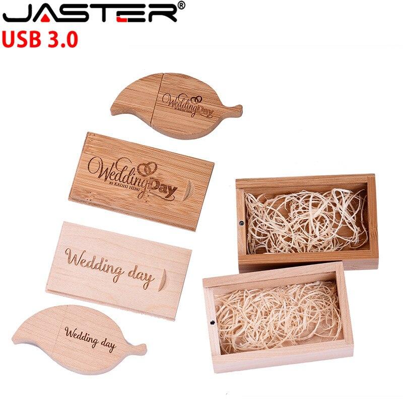Memoria usb 3,0 SHANDIAN de madera + caja, memoria usb, 4GB 16GB 32 GB 64GB, regalo (1 Uds. Con logotipo gratuito)