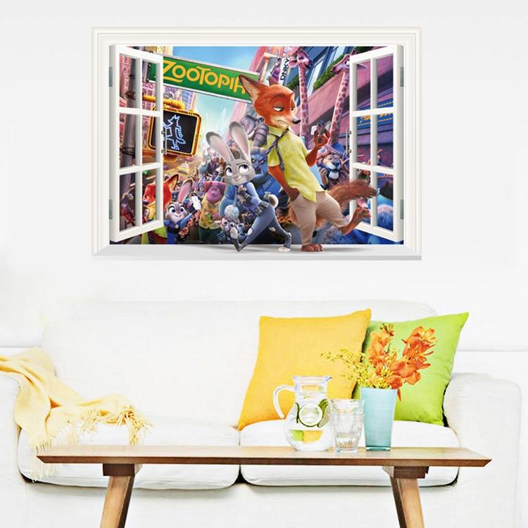 Pegatina de animales 3029 Crazy Paste Smile Furniture, pegatinas decorativas para la pared del salón, grasa térmica 3D de personalidad, decoración del hogar