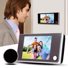 1 adet 3.5 inç LCD renkli dijital kapı zili ekran 120 derece elektronik dijital kapı kamera görüntüleyici kapı göz kapı zili güvenlik