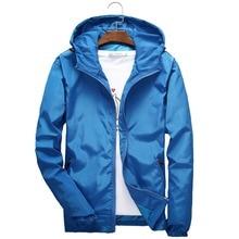 Size 6XL 5XL 7XL Men Windbreaker Jacket Thin Jackets Clothes streetwear Mens Clothing Casual and Comfortable K8016
