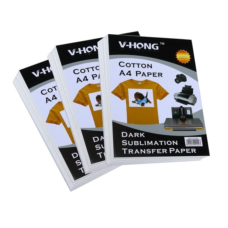 Estampado en caliente de alta temperatura, especificación A4 para corte arbitrario, papel de transferencia térmica de algodón puro
