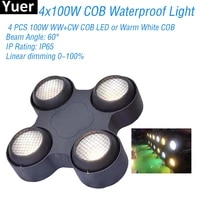 new ip65 waterproof 4x100w warm white effect light outdoor dj disco equipment park party club stage effect lights lighting