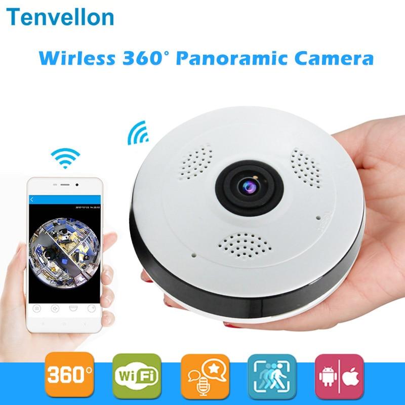 360 grados Wi-fi cámara IP FishEye HD 960 P 1.3MP inteligente panorámica IPC P2P inalámbrico cámara IP Fisheye 1.3MP seguridad wifi Cámara
