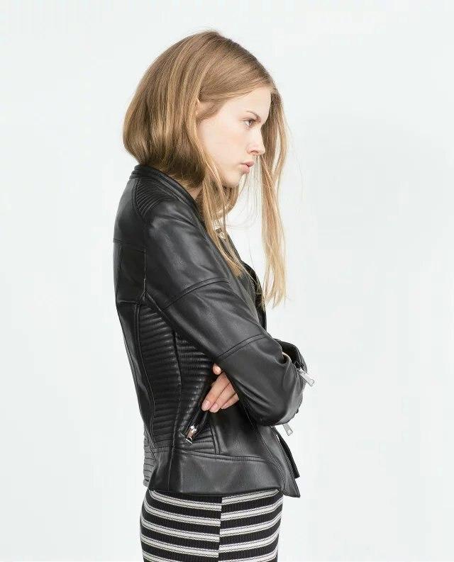 Leather Jacket Women Coat Slim Biker Motorcycle Soft Zipper Girl Leather Jaquetas De Couro feminina Women's clothing Aviator coa enlarge