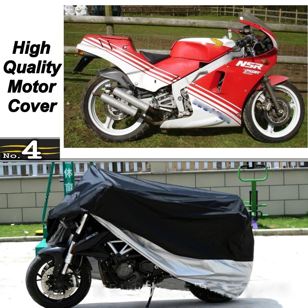 Cubierta de la motocicleta para Honda NSR250R MC16 impermeable UV/SOL/polvo/cubierta protectora para lluvia hecha de tafetán de poliéster