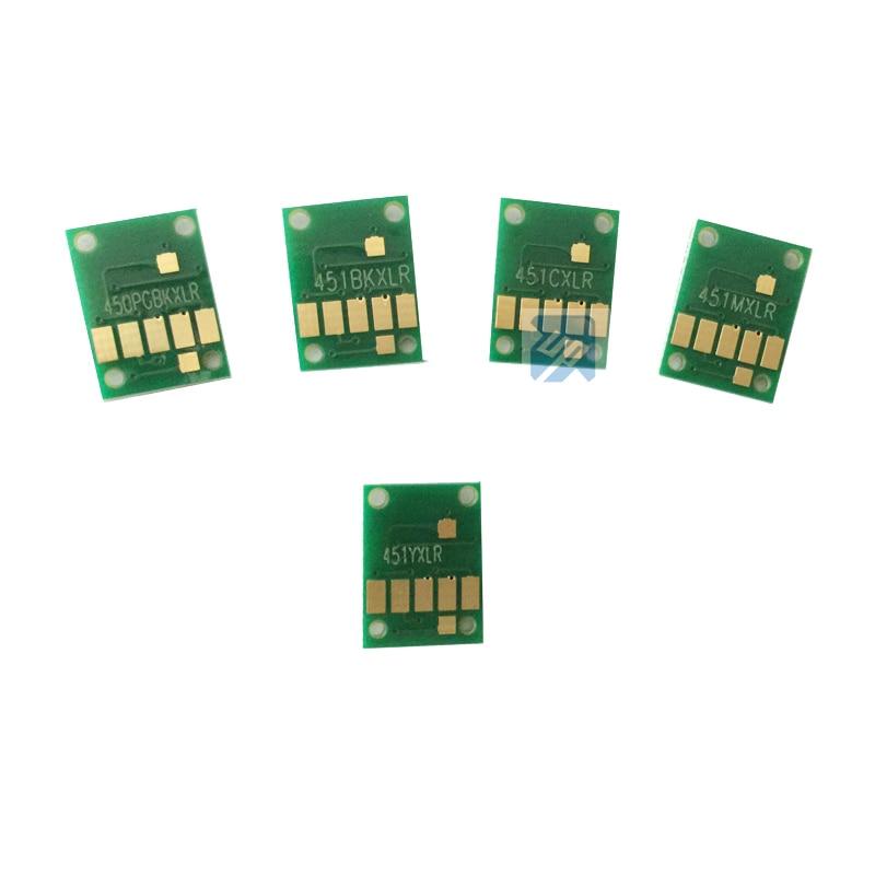 5 uds arco CHIPS para CANON MG5440 MG5540 MG6440 Ip7240 MX924 IX6540 IX6840 CISS reset auto chip PGI-450 CLI451 pgi 450