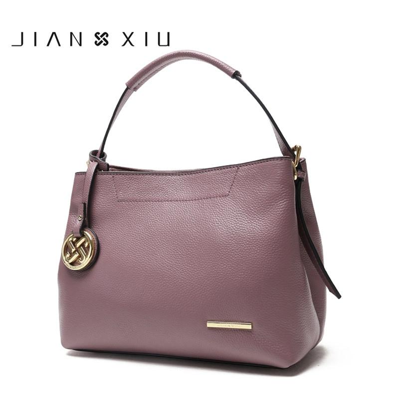 JIANXIU-حقائب يد جلدية أصلية للنساء ، حقيبة يد فاخرة ذات علامة تجارية ، حقيبة كتف بشرابة ، حقيبة ساعي