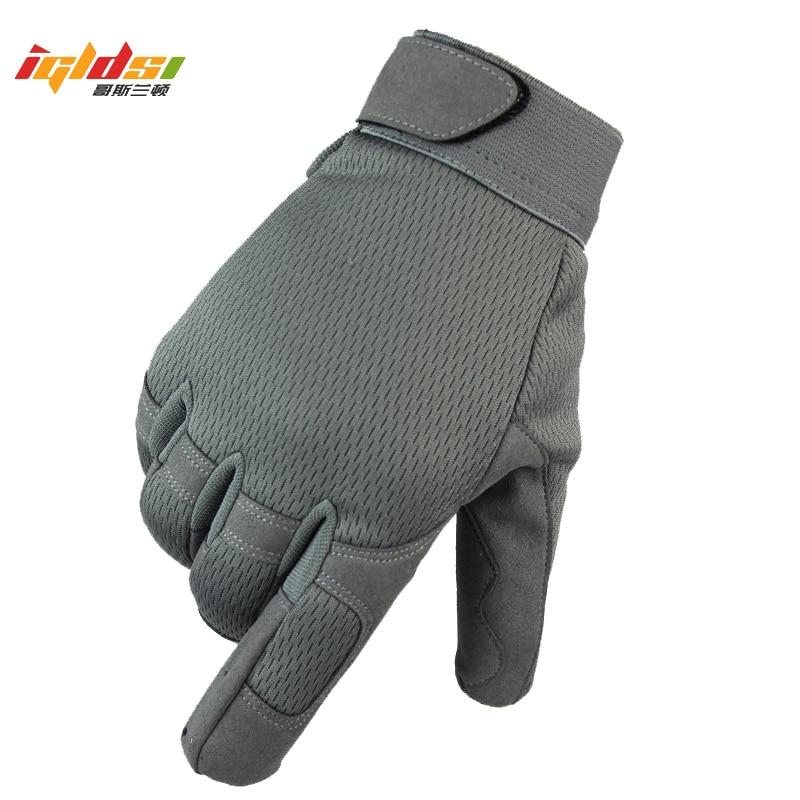 Los hombres de camuflaje guantes militares ejército lleno dedo táctico guantes Anti-slip térmica Airsoft bicicleta Airsoft Motocycel guantes