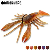 2pcs crazy crawfish soft bait fishing lure life like signal crayfish jig head new tpe rubber jointed paddle tail for zander pike