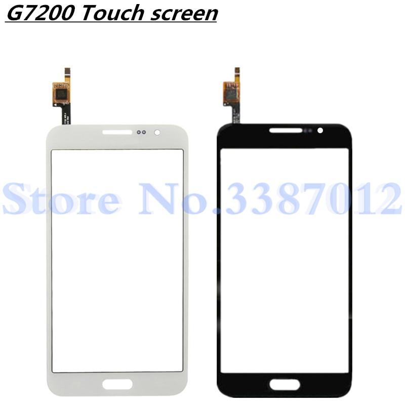 Gran calidad para Samsung Galaxy Grand MAX G7200 G720 G720AX Touch Sensor de panel de pantalla digitalizador lente de vidrio exterior