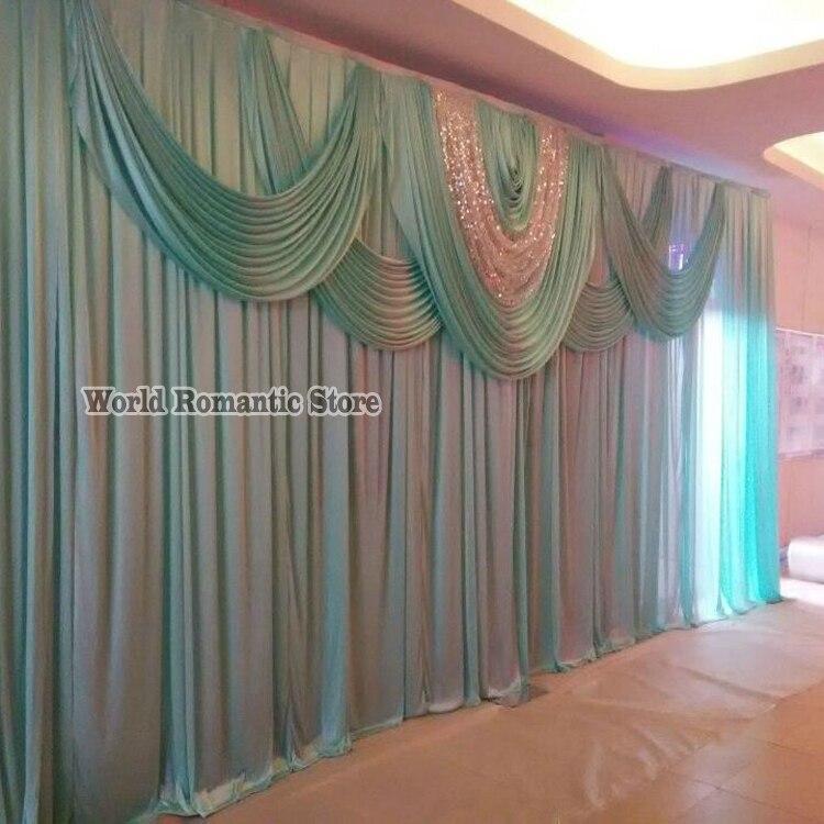 10 pies x 20 pies Tiffany azul boda telón de fondo boda etapa docoration