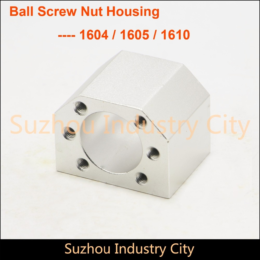 ¡Movimiento Lineal tornillo de bola SFU 1605 1610 bola tornillo tuerca de la carcasa de soporte!