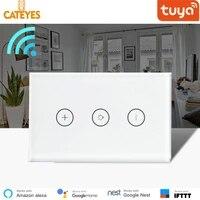 Haute qualite nous Tuya Wifi Smart mur tactile lumiere gradateur commutateur APP telecommande fonctionne avec Amazon Alexa et Google Home