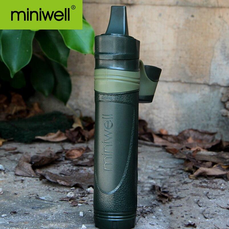 Palha de pouco peso exterior do filtro de água da engrenagem 98 g de miniwell para a recreação e o curso exteriores