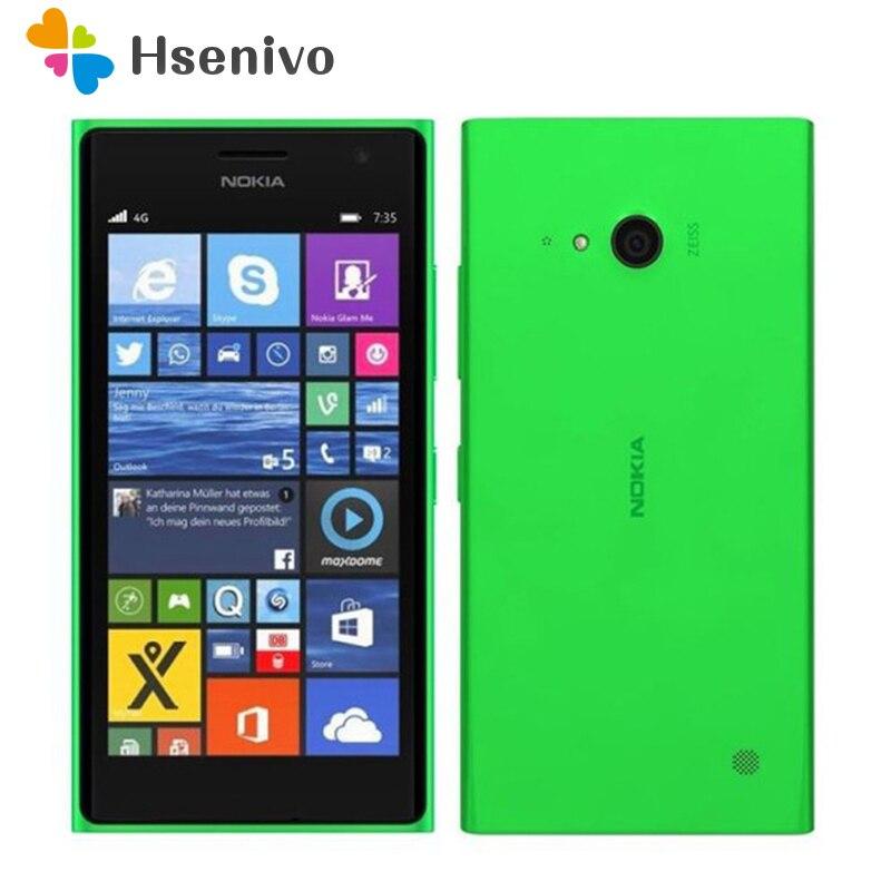 "735 Original Nokia Lumia 735 Unlocked 4.7"" 8GB ROM 1GB RAM Quad Core LTE Windows Mobile Phone cell phone Free shipping"
