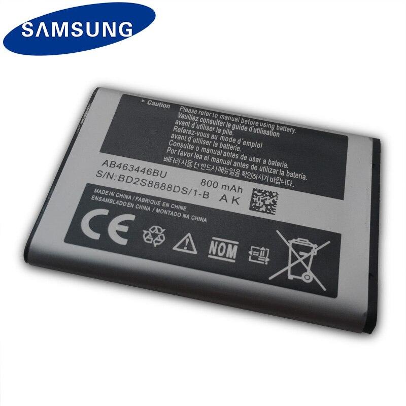SAMSUNG Original Battery AB463446BU For Samsung S139 M628 X520 F258 E878 E1200M SGH-B108 GH-M310 SGH-L258 Phone battery 800mAh enlarge