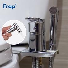 FRAP Bidet faucets toilet solid brass chrome handheld bidet toilet portable bidet shower set with hot and cold water bidet mixer
