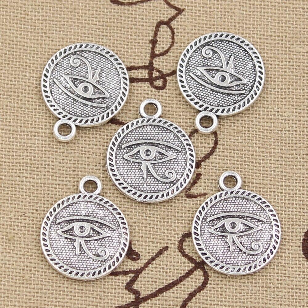 6pcs Charms Eye Of Horus 18x15mm Antique Pendant fit,Vintage Tibetan Bronze Silver color,DIY Handmade Jewelry