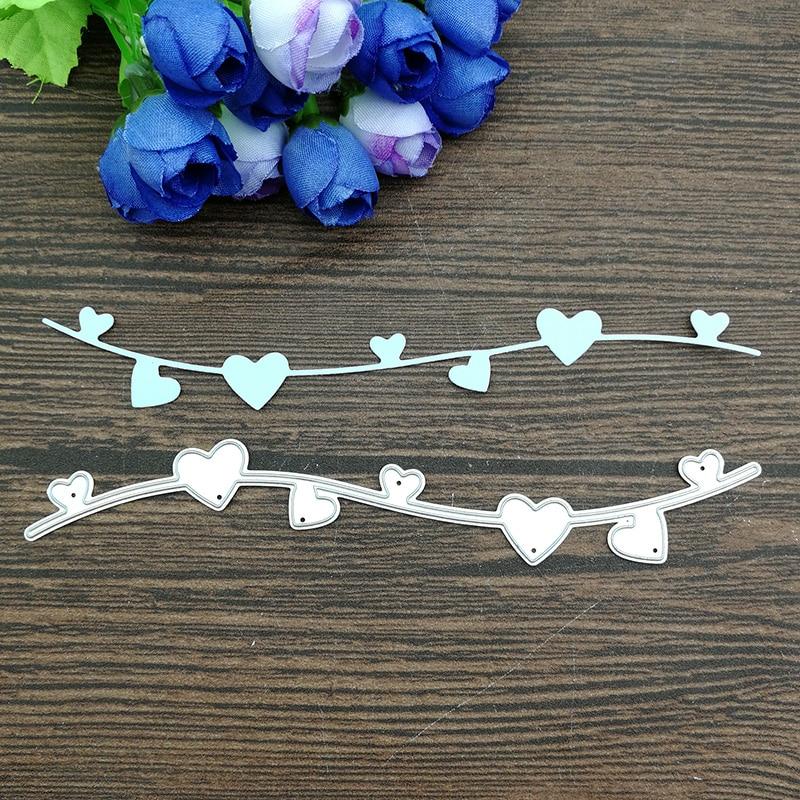 Plantillas de corte de Metal con límite de borde de flores de encaje romántico para grabado decorativo de tarjetas de papel DIY