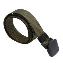 Hommes Sports de plein air militaire tactique Nylon ceinture toile Web ceinture taille formateur soutien lombaire ceinture de Fitness