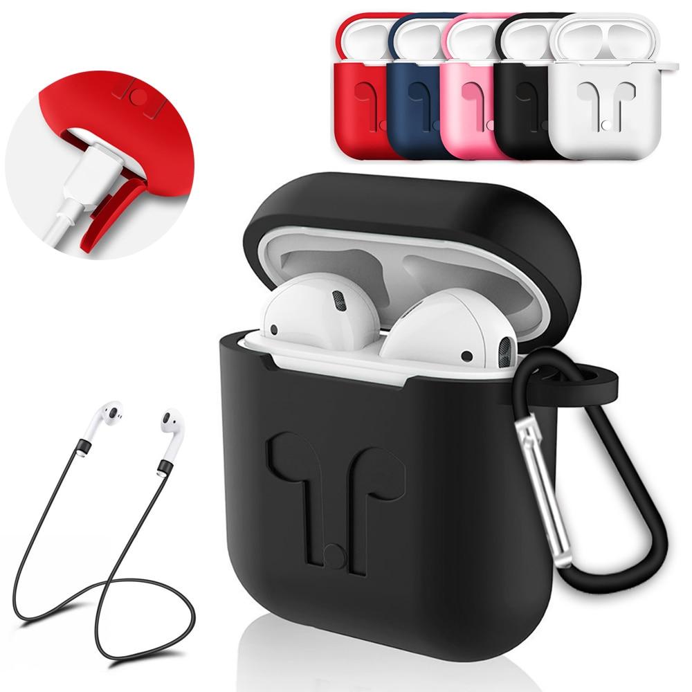 Funda suave de silicona para auriculares airpods, funda protectora a prueba de golpes, accesorios para auriculares a prueba de agua