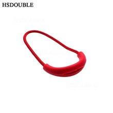 10 stks/pak U Vorm Cord Rits Trekt Strap Lariat Voor Apparel Accessoires Kleur Rood