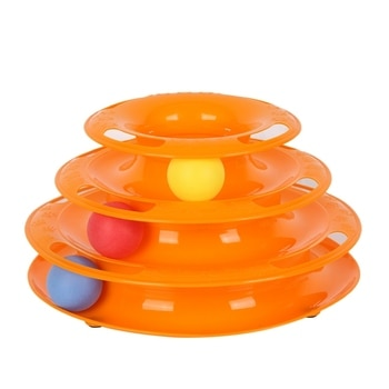 Триламинар игрушки для домашних животных, трек для кошек, шариковое блюдо, Забавный диск, Интерактивная развлекательная тарелка, игрушка дл...