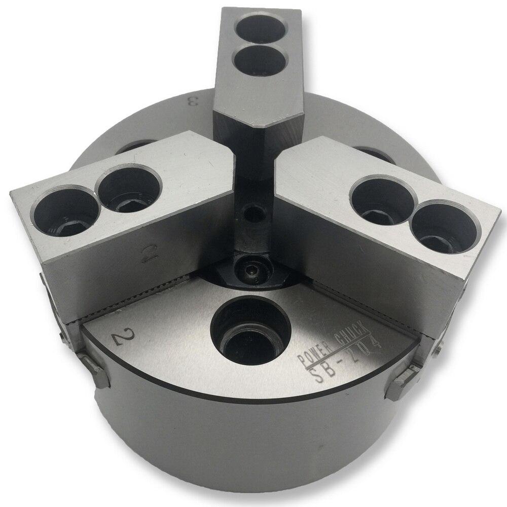 MZG SB-210 10 pulgadas 3 mandíbula hueca mandril de alimentación para torno CNC taladro herramienta de corte titular de agujero mecanizado