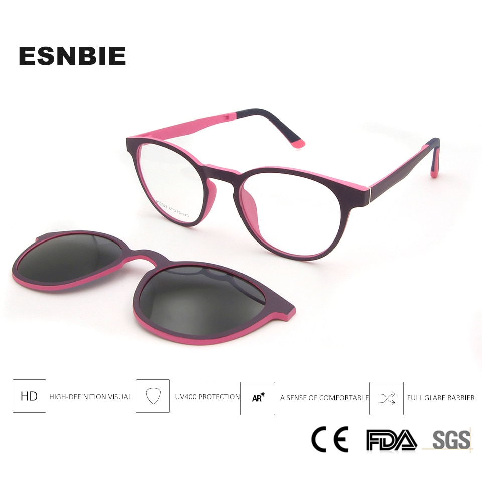 Ultem Optical Frame For Boy Eyeglasses Frame With Clip On Lens Kids Sunglasses Polarized Girls Boys Vintage Round Child Shades