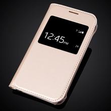 Luxury Ultra Thin View Window Flip Leather SKin Case Cover For Samsung Galaxy J1 Nxt / J1 mini (2016) J105 J105H J105F SM-J105H