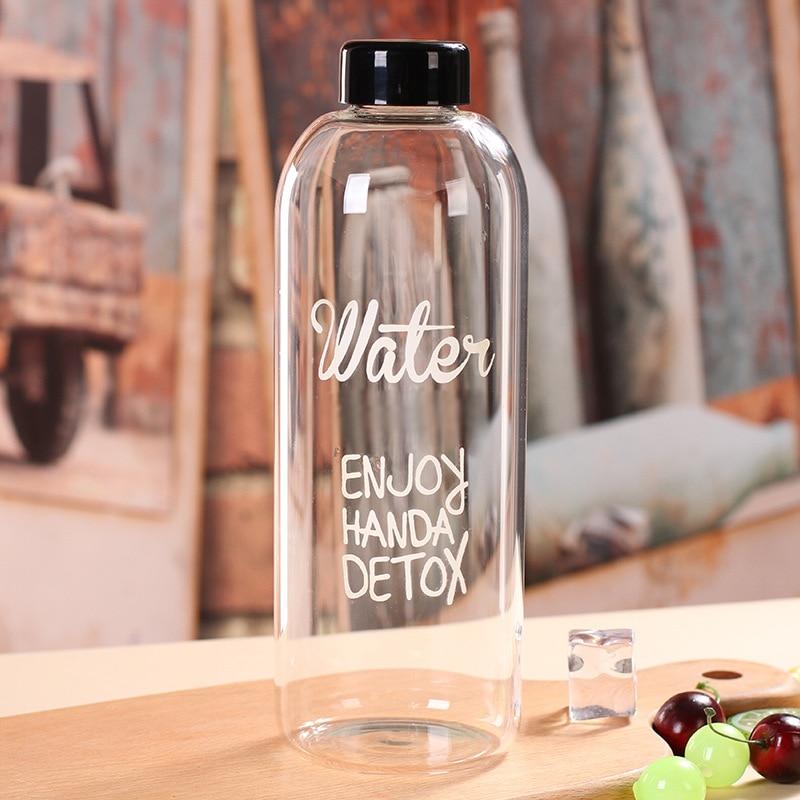 1000ml 600ml minha garrafa de água de limão garrafas plásticas adorável bootle transparente botle portátil botella de agua esporte bebida garrafas