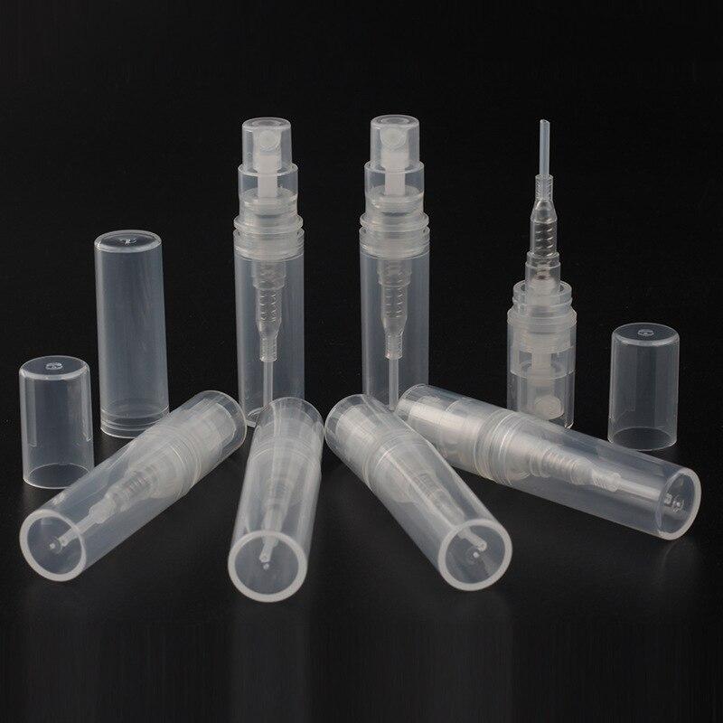 فارغة البلاستيك رذاذ التجميل زجاجة 2 مللي 3 مللي 4 مللي 5 مللي شفافة البسيطة غرامة ضباب رذاذ عطر زجاجة للتغليف