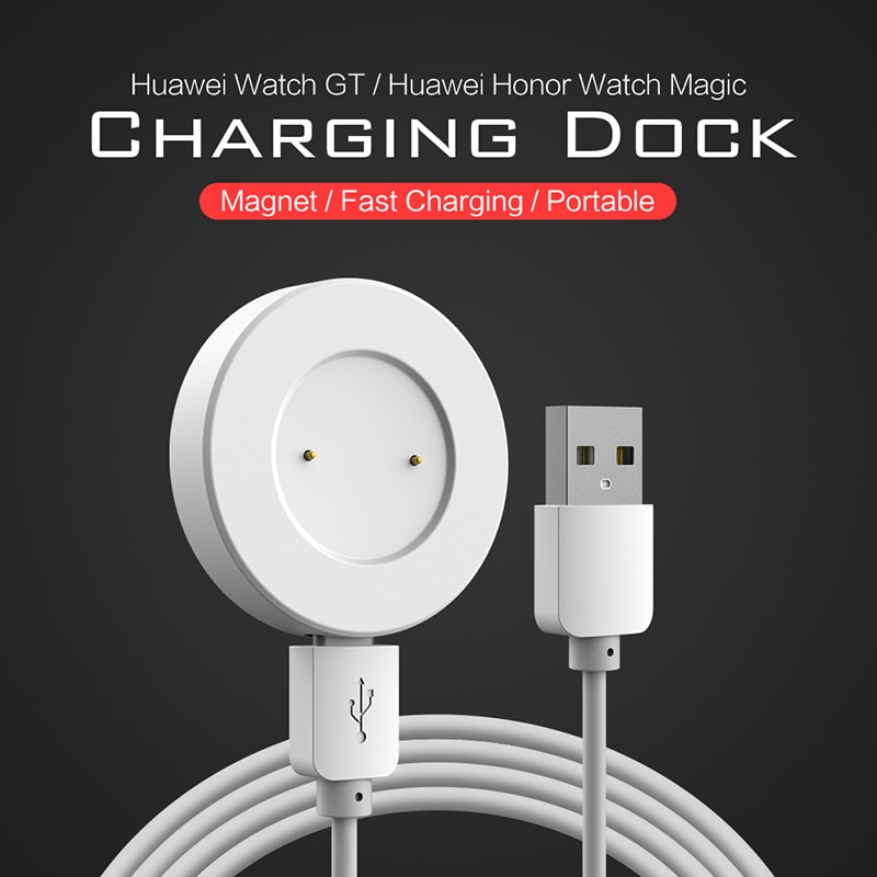 Smart watch Dock Charger for Huawei GT GT2 GT2e/ honor magic 2 charger 120cm USB charge cable Magnetic Charging Cradle on AliWatcher