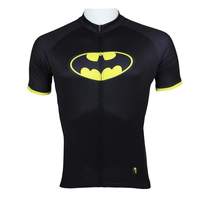 Camiseta de Ciclismo de superhéroe Batman de Costom, camiseta de bicicleta de carretera negra con XS-3XL de héroe americano, ropa de bicicleta MTB guay
