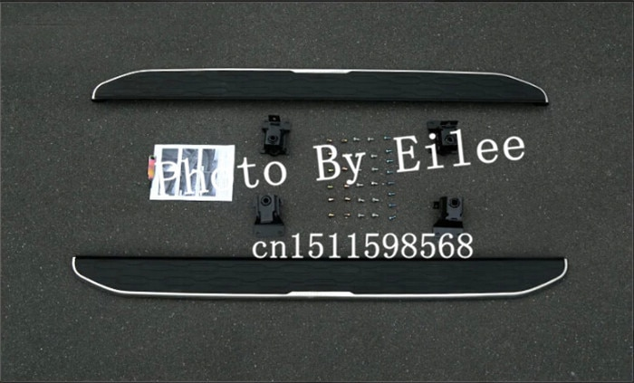 Tablero de carrera de aluminio lado paso Nerf bar adecuado para Land Rover Discovery sport 2015-2020