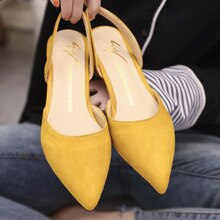 New 2018 Women low Heel sandals Women Shoes pointed Toe low Heels Work shoes Comfortable Ladies summer sandals
