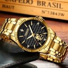 Montre Dragon mode Chenxi pour hommes montres de marque supérieure montre en or de luxe pour hommes montre à Quartz pour hommes en acier inoxydable horloge pour hommes