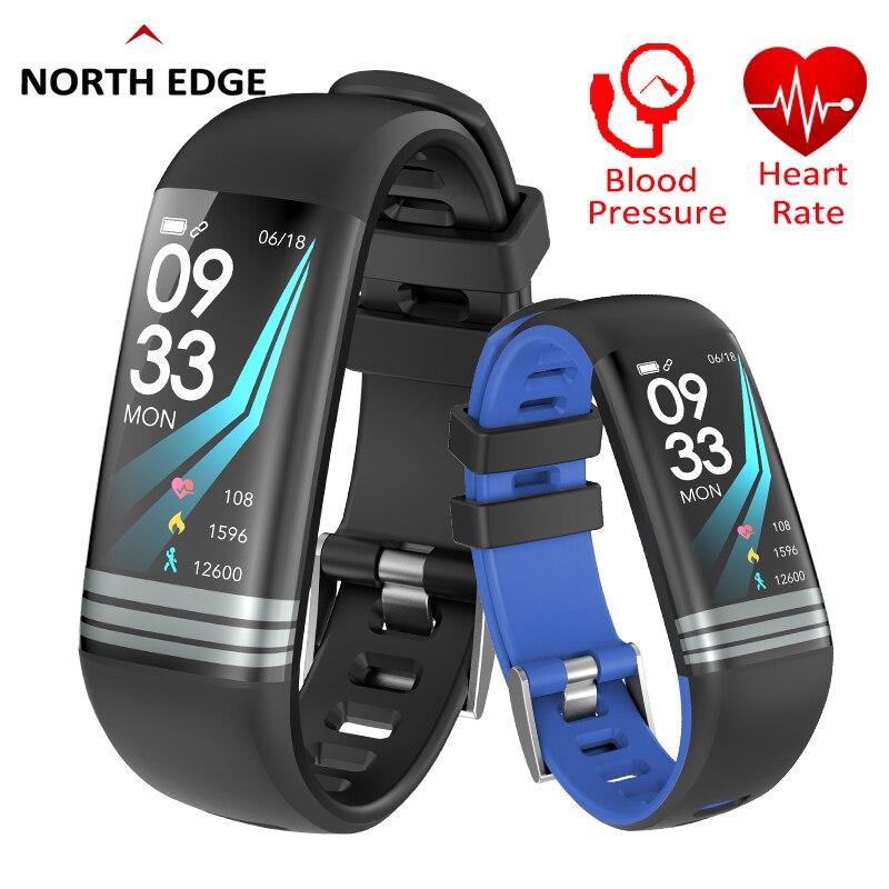 El borde norte hombres pulsera inteligente de monitores de presión arterial de oxígeno Fitness IP67 impermeable modo Multi deporte pulsera inteligente
