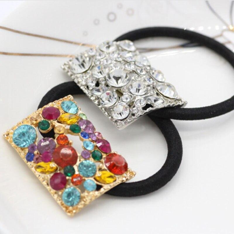 Anillo de pelo de cristal de chapado de aleación adornos para el pelo exquisito caliente versión Coreana de la joyería ornamentos de suministro