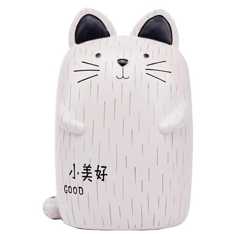 Креативная черно белая модель Кота копилка с украшениями мультяшным котом
