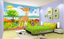3d обои на заказ, фотообои с мультяшными животными на 3 d, фотообои для детской комнаты, 3d настенные фотообои, бумага для домашнего декора