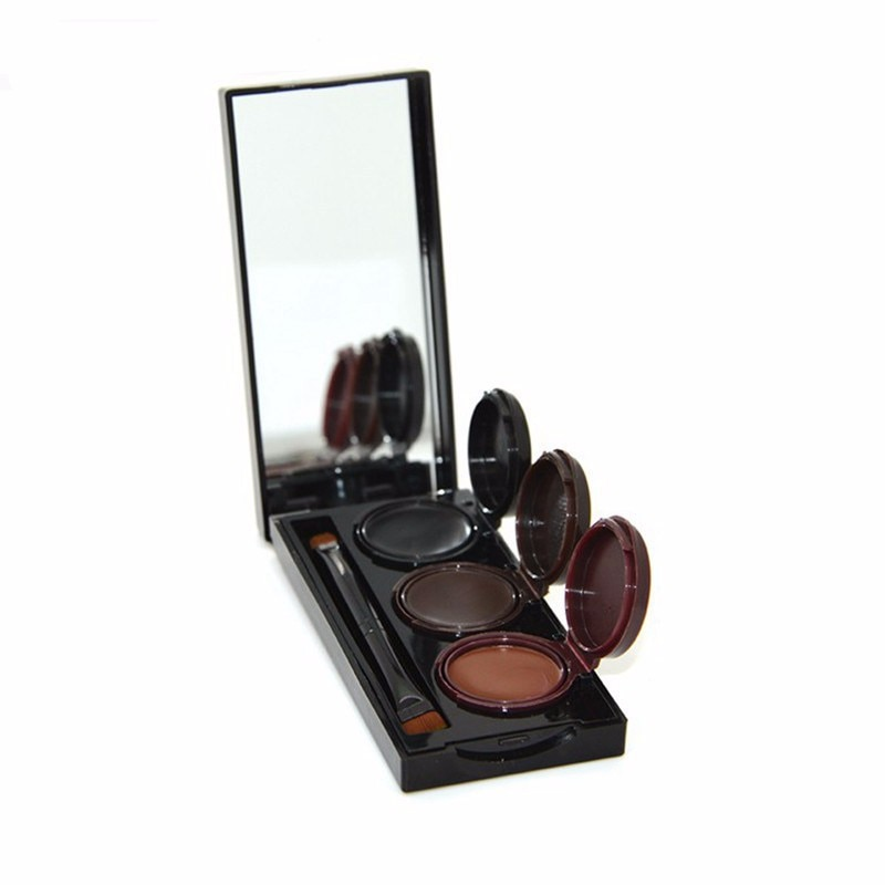 Maquillaje 3 colores polvo de cejas y delineador de ojos Gel duradero a prueba de manchas impermeable cosmética para ojos potenciador de cejas Maquiagem M3056