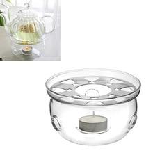 Tragbare Teekanne Halter Basis Kaffee Wasser Tee Wärmer Kerze Halter Klar Glas Wärme-Wider Teekanne Wärmer Isolierung Basis