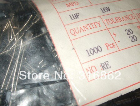 Free Shipping 16V1UF 16V 1UF electrolytic capacitor ORIGINAL100% 100PCS/LOT Electronic Components kit