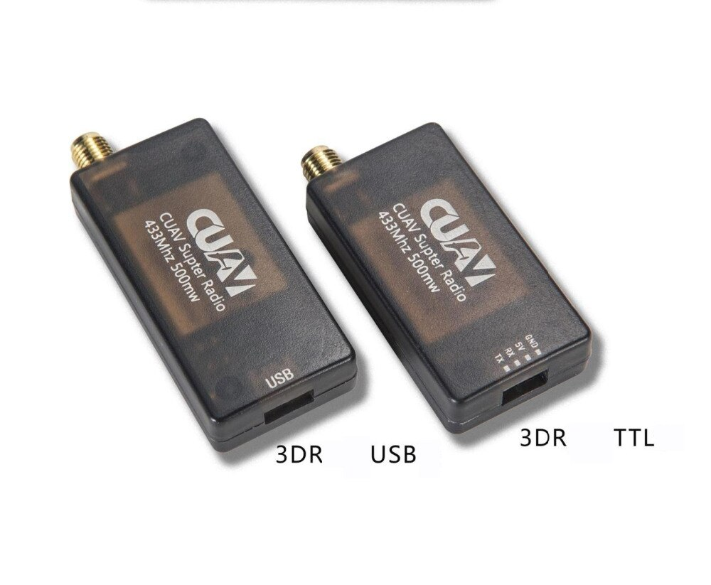 CUAV 3DR radio telemetry 915mhz 250MW 433mhz 1000MW data Telemetry TTL & USB Port For APM Pixhawk Pixhack Open source drop ship enlarge