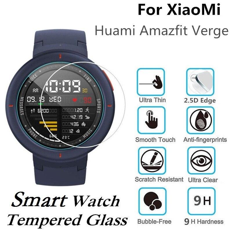 10 PCS מזג זכוכית עבור Xiaomi Huami Amazfit סף חכם שעון מסך מגן D35mm שריטה עמיד מגן סרט