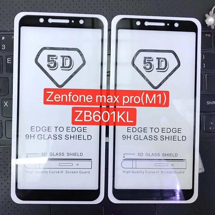 5 uds 5D de templado de vidrio de ASUS Zenfone MAX PRO...