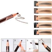3 unids/set lápiz de cejas impermeable tatuaje pluma suave coloreado de larga duración maquillaje Natural productos cosméticos tinte 5 colores