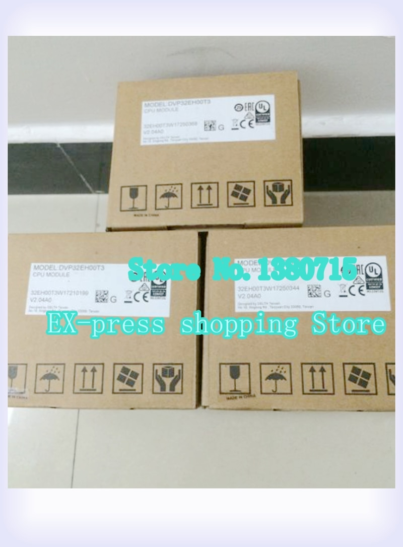 Original DVP32EH00T3 PLC EH2 EH3 Series 100-240VAC 16DI 16DO Transistor Output New In Box