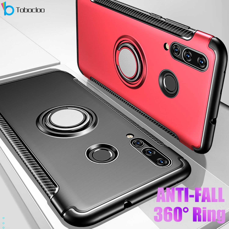 Para Huawei Honor 10 Lite 10i Honor10 puedo ver V10 V 10 anillo de Metal coche pesado PC + silicona TPU de silicona soporte caso